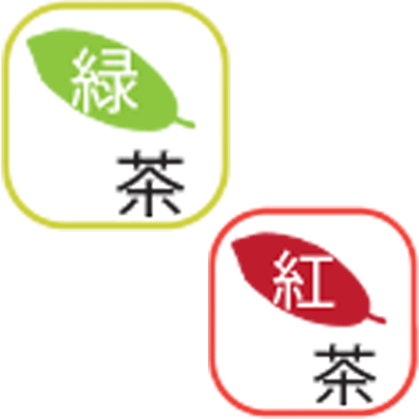 緑茶紅茶ロゴ